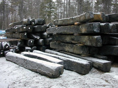 Live Oak Timbers at our mill in Berwick, Maine.