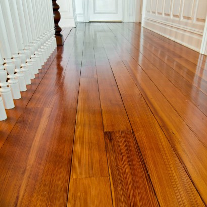 reclaimed salvaged antique heart pine flooring clear quartersawn grain in a private residence in cold spring harbor new york long island