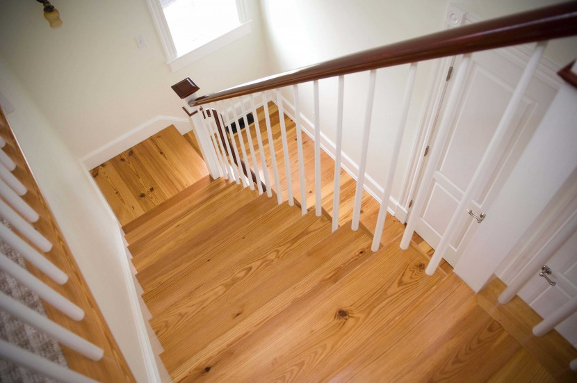 Reclaimed Heart Pine Rustic Stair Treads