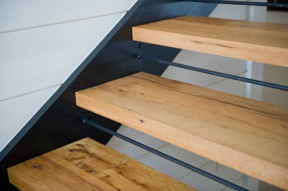 custom reclaimed oak stair treads