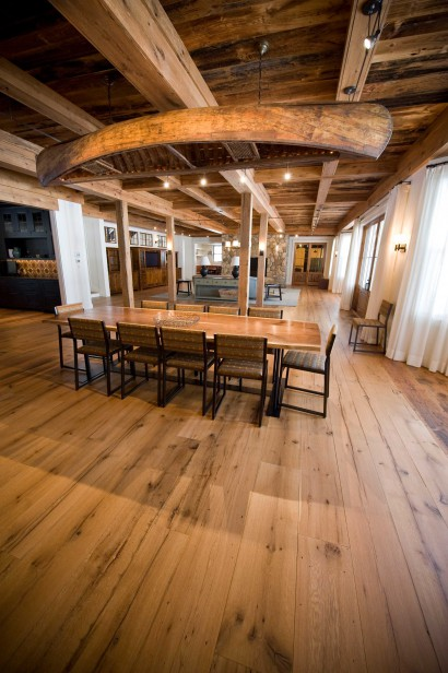 reclaimed repurposed antique salvaged oak flooring for maine private residence