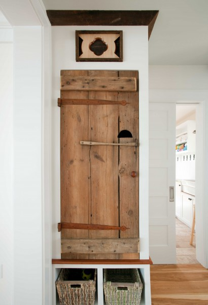 reclaimed salvaged antique barn doors private residence rockport massachusetts