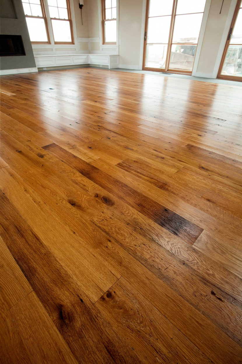 reclaimed salvaged antique repurposed american chestnut flooring rustic for martha's vineyard massachusetts