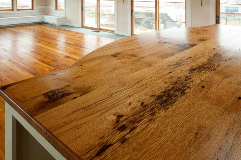 Longleaf lumber reclaimed oak countertop for Local reclaimed wood