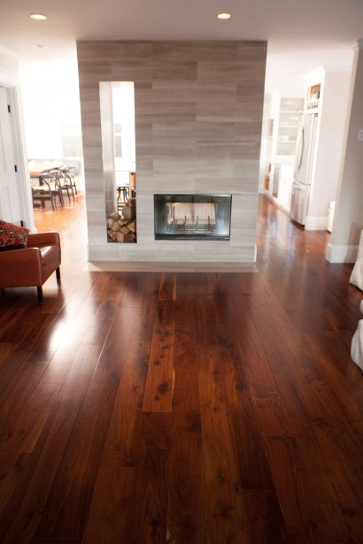 reclaimed salvaged antique repurposed walnut wood flooring for a cambridge massachusetts home