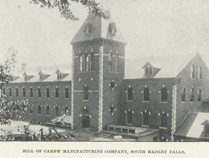 carew manufacturing building in south hadley, massachusetts