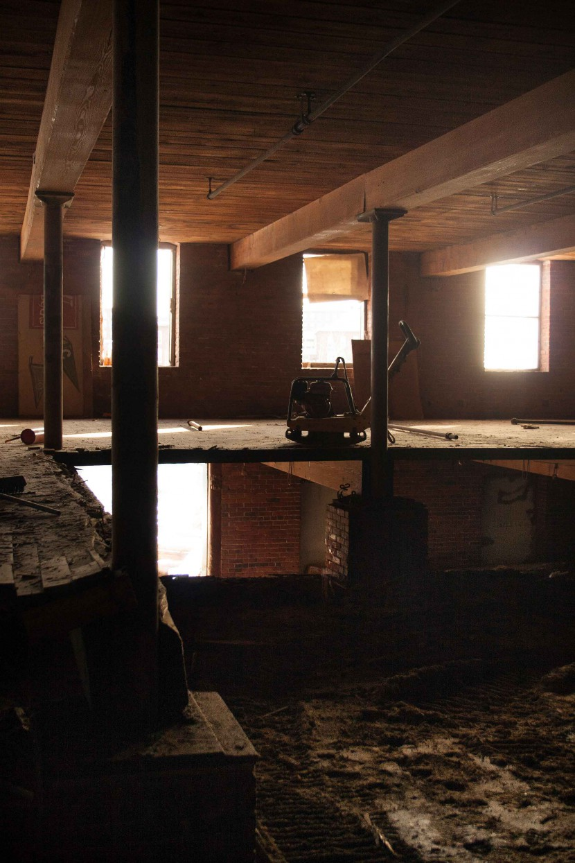 Mill Number 12 Annex in Manchester, New Hampshire, where Longleaf Lumber reclaimed maple flooring and Heart Pine beams.