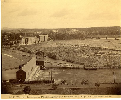 landscape photograph view of south hadley from holyoke, massachusetts
