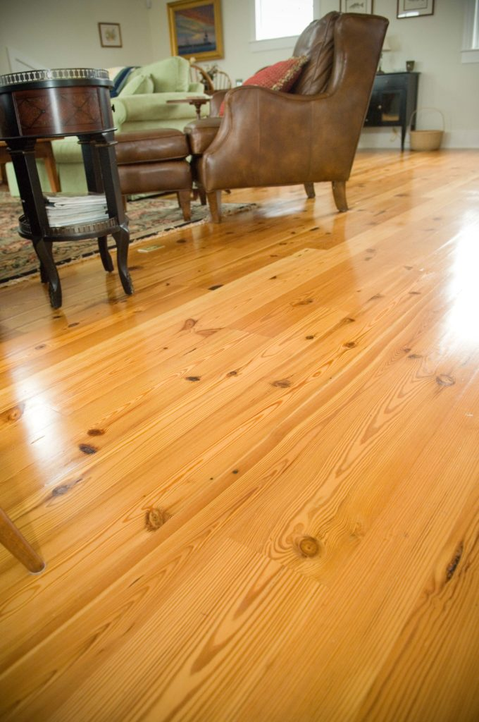 Reclaimed #3 Rustic Flatsawn Reclaimed Heart Pine Flooring ~ Private Residence