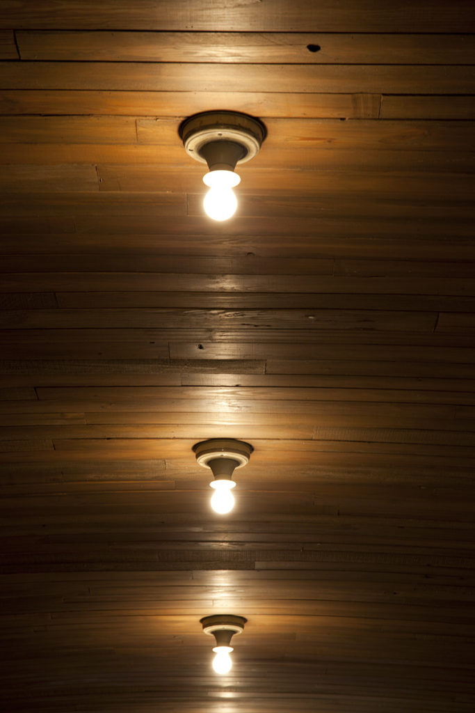 Reclaimed Heart Pine Ceiling Paneling ~ Brewery, Hoboken, New Jersey