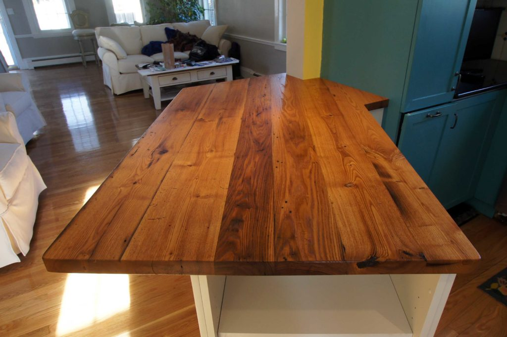 Reclaimed American Chestnut Countertop ~ Private Residence Kitchen