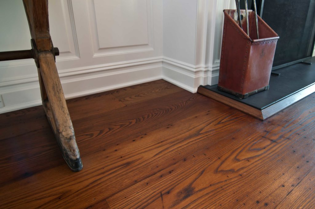 Reclaimed American Chestnut Flooring ~ Cold Spring Harbor, NY Private Residence