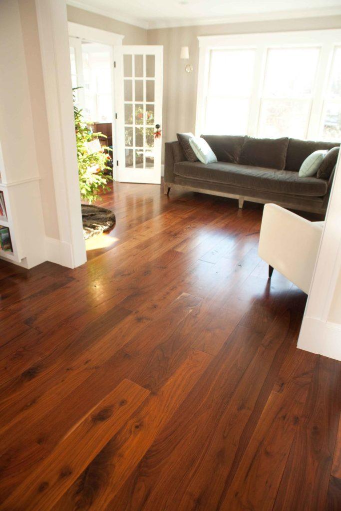 Reclaimed Walnut Flooring ~ Cambridge, Massachusetts Private Residence