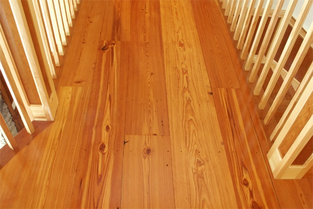 Reclaimed #2 Flatsawn Heart Pine Flooring ~ New Hampshire