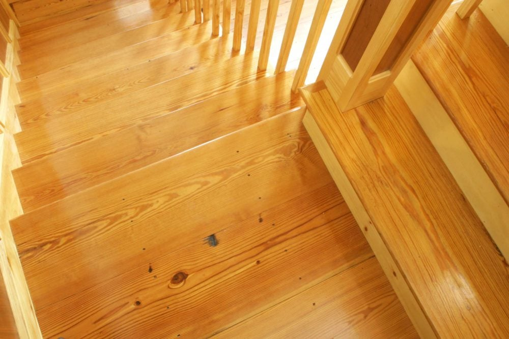 Reclaimed #2 Flatsawn Heart Pine Stair Treads ~ New Hampshire
