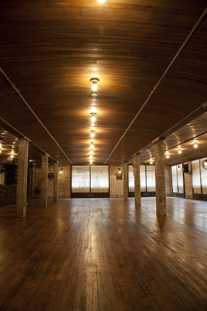 Reclaimed Heart Pine Ceiling Boards ~ Brewery, Hoboken, New Jersey