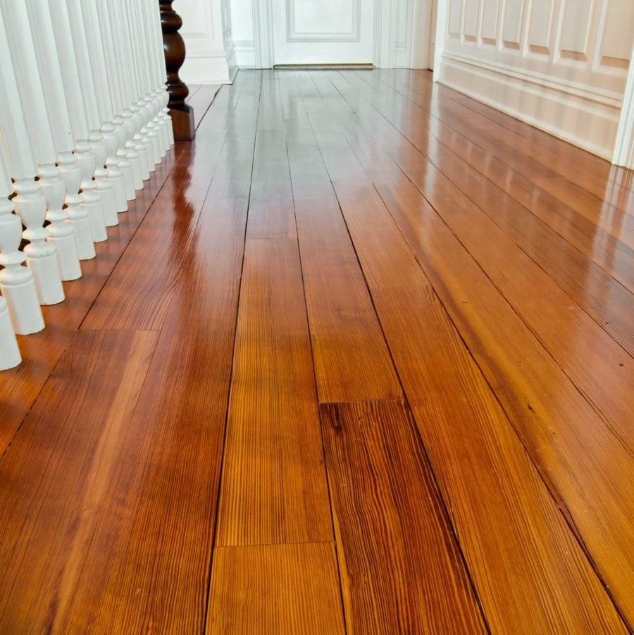 #1 Clear Quartersawn Reclaimed Heart Pine Flooring ~ Private Residence, Cold Spring Harbor, New York