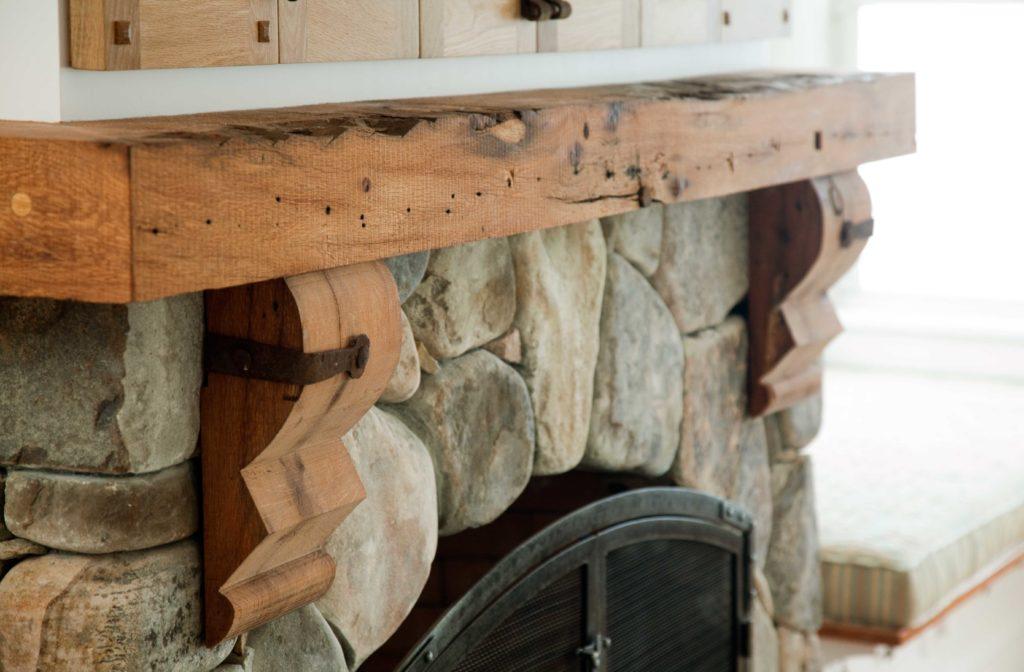 Custom-Milled Reclaimed Oak Mantel
