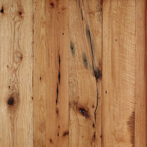 Red and White Reclaimed Oak