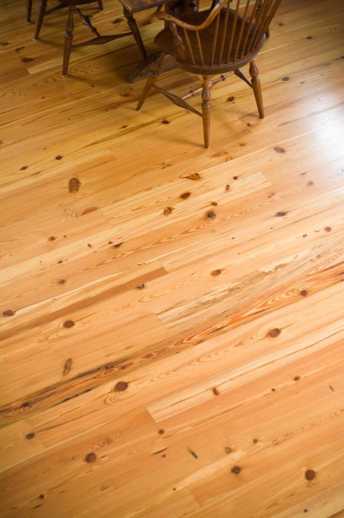 Reclaimed Rustic Heart Pine Flooring