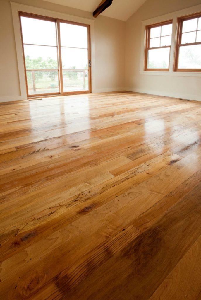 Reclaimed Maple Flooring ~ Martha's Vineyard, Massachusetts - Waterlox Tung Oil Finish
