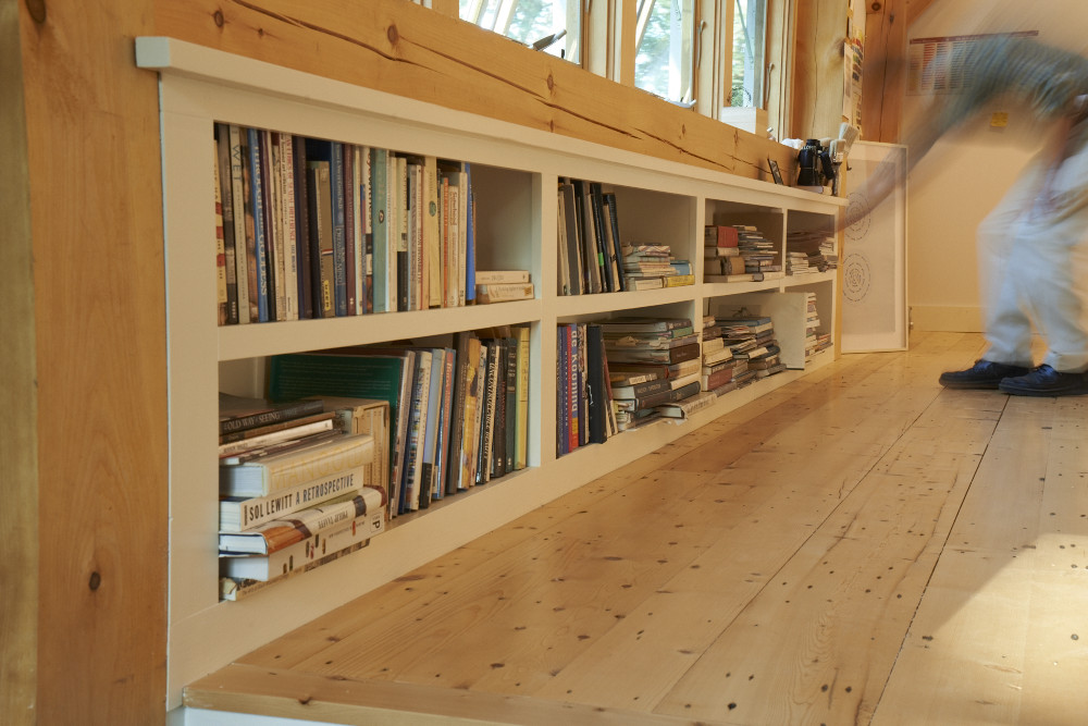 Reclaimed Bright Spruce Flooring ~ Artist's Studio, Yarmouth, Maine