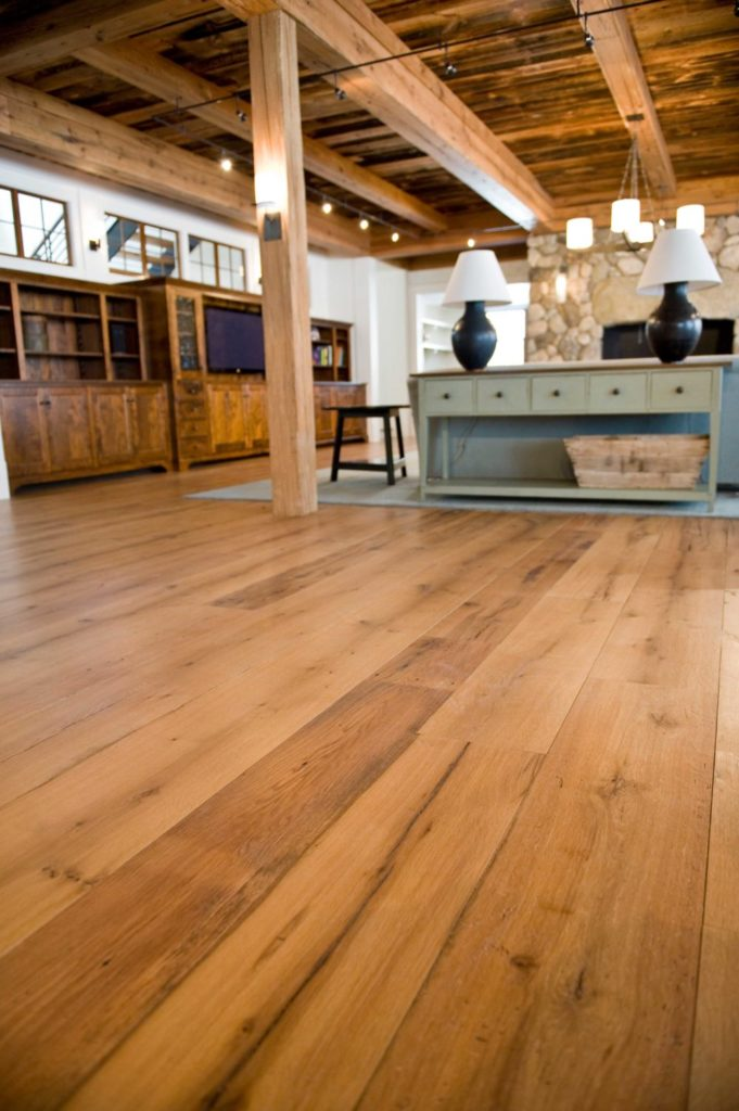 Reclaimed Wide Plank White Oak Flooring ~ Maine Private Residence