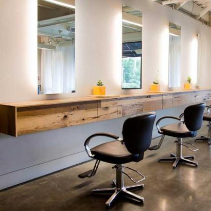 Reclaimed White Oak Drawer Paneling ~ Zona Salon, Norwell, Massachusetts