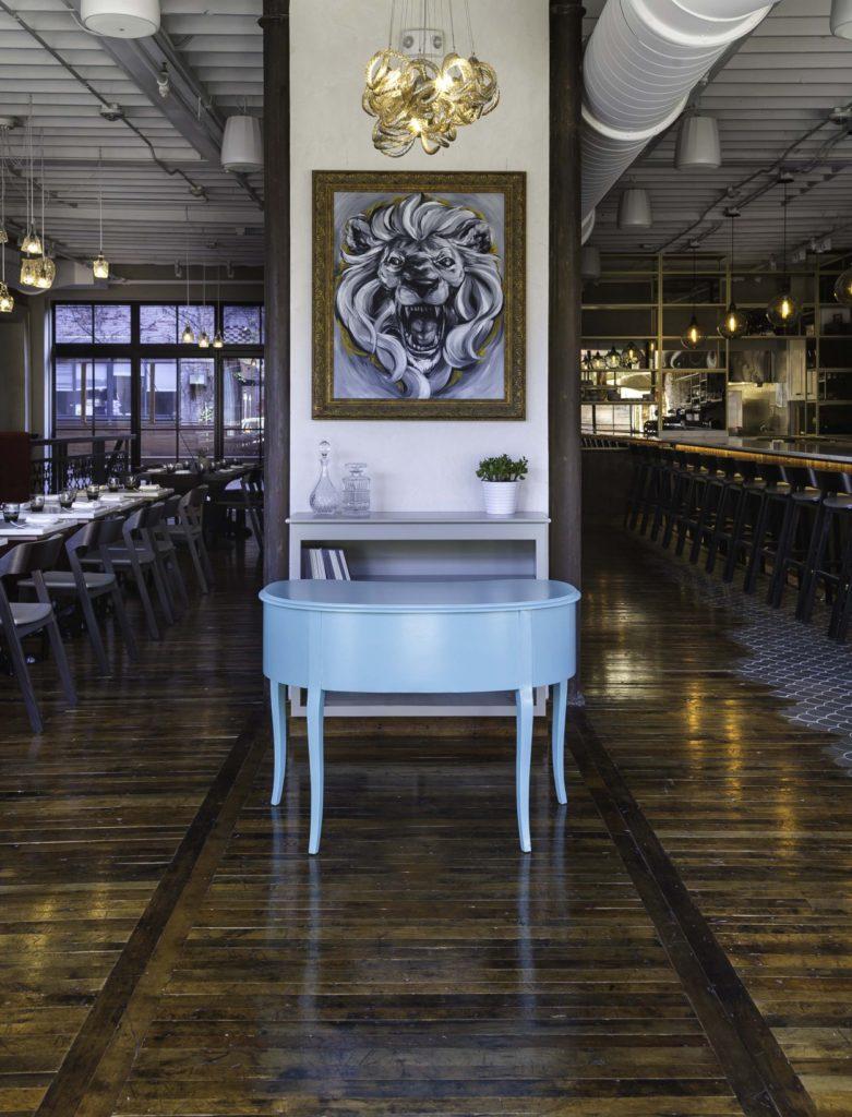 Reclaimed 'As Is' Factory Maple Flooring in SRV Boston Restaurant