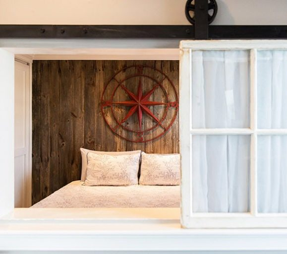 Reclaimed Barn Board On Bedroom Wall