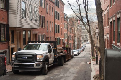 Reclaiming Wood on South Russell Street in Boston