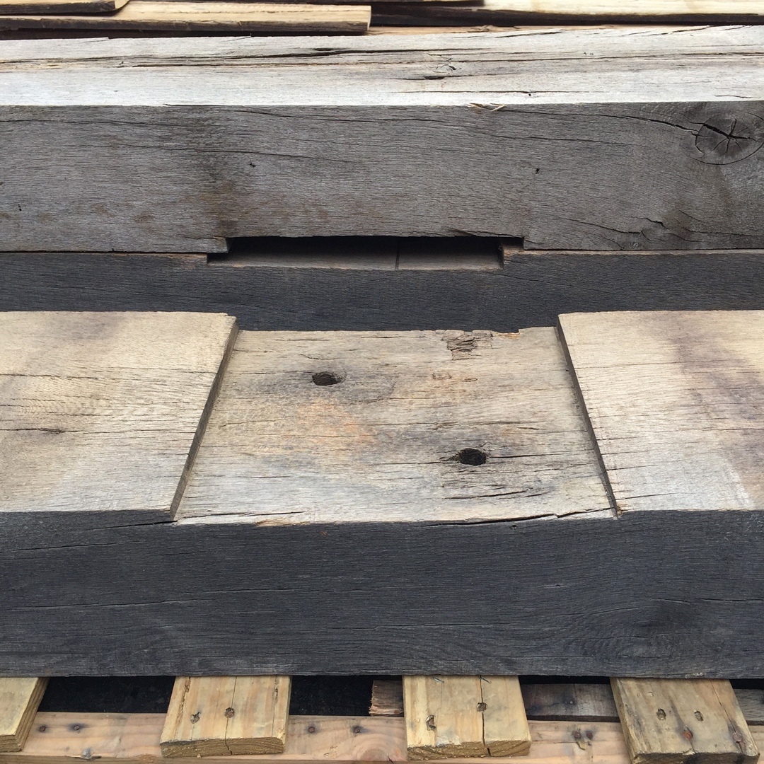 Post Dado In Oak Grist Mill Beams From Ohio