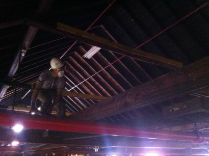 Salvaging Abbot Mill Joists