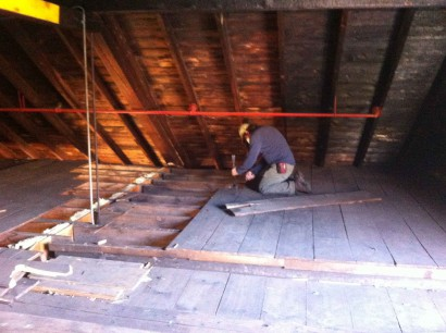 Salvaging Abbot Mill Flooring