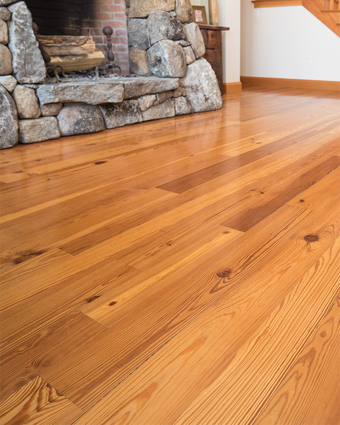 Longleaf lumber select flatsawn reclaimed heart pine for Salvaged pine flooring
