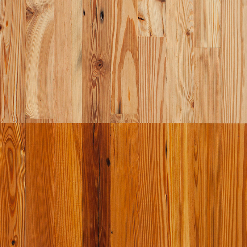 Reclaimed Heart Pine Mixed Grade Paneling
