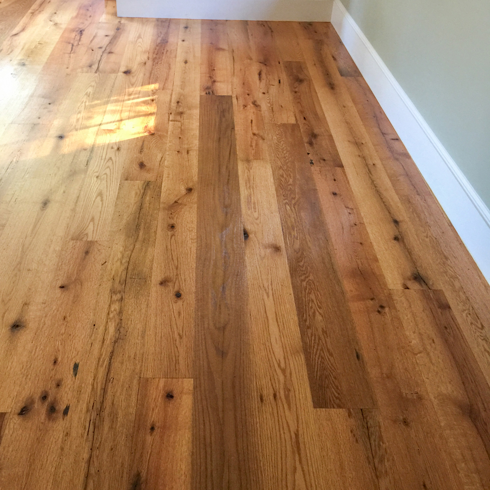 Reclaimed Red Oak Flooring in Private Home