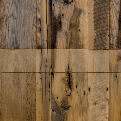 Mixed Reclaimed Hardwoods Skip-Planed Paneling