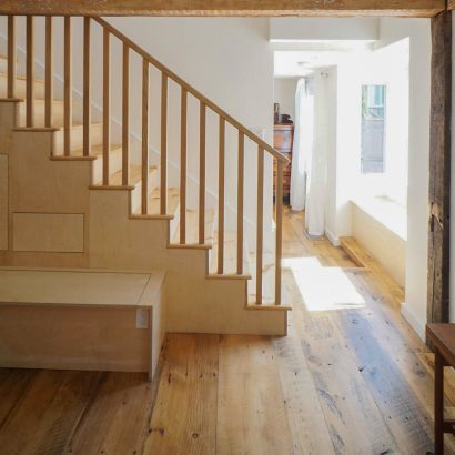 Reclaimed Wide Eastern White Pine Flooring & Treads
