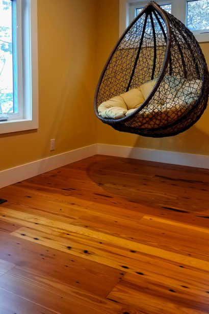 Reclaimed Naily Buckshot Heart Pine Flooring - Tung Oil Finish