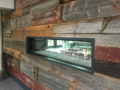 Salvaged Barn Board Wall Paneling In Private Home