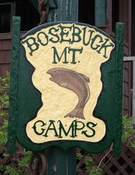 Bosebuck Mountain Camps Sign