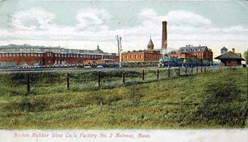Color Drawing of Melrose Boston Rubber Shoe Company