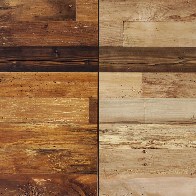 Bright-Milled Reclaimed Mixed Hardwoods Paneling
