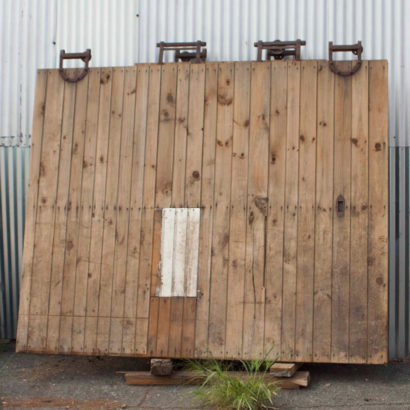 Reclaimed brown barn doors
