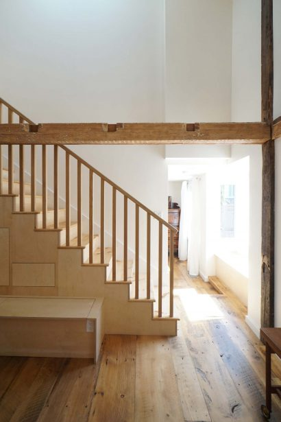 Reclaimed Wide Plank Eastern White Pine Flooring & Stair Treads