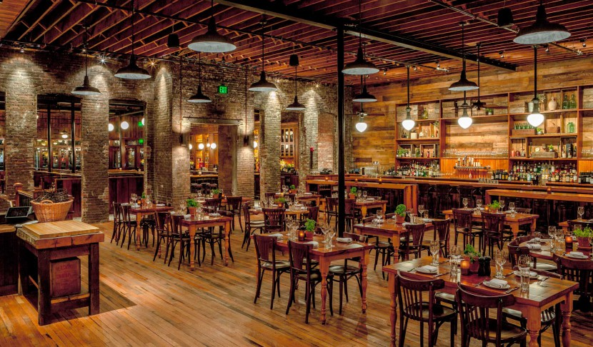 Capo Restaurant reclaimed wood bars, tables & paneling