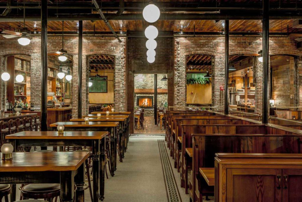 Capo Restaurant Reclaimed White Pine Tables & Booths