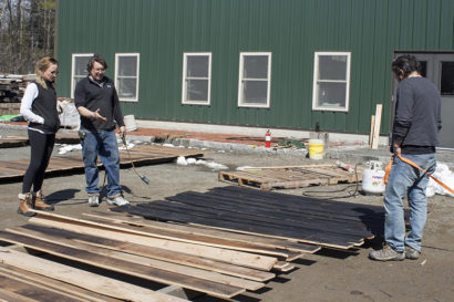 Consulting Design Team About Reclaimed Hemlock Charred Wood