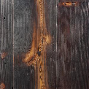 Reclaimed Hard Pine Charred Wood